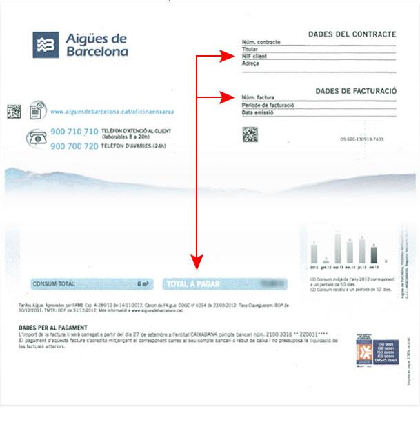Toda la información necesaria para darte de alta está en tu factura