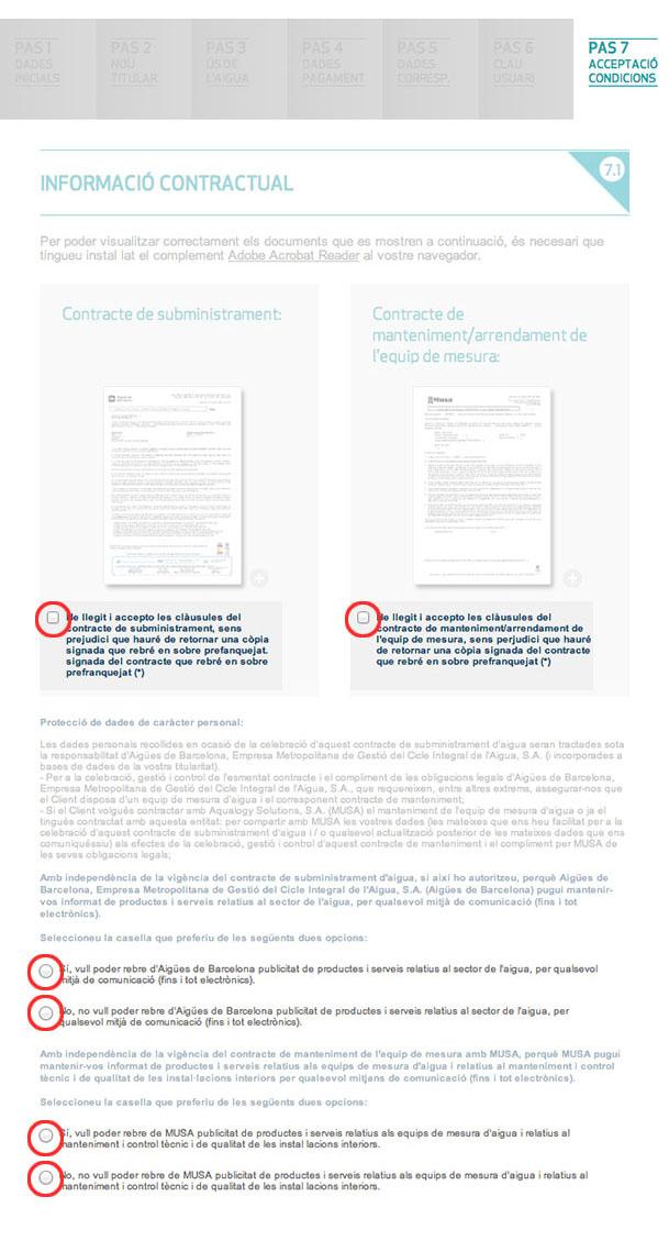 Condicions legals i comunicacions
