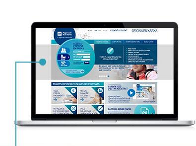 Fes clic a Tràmits i gestions i selecciona Modificar domiciliació bancària, adreça postal i altres dades