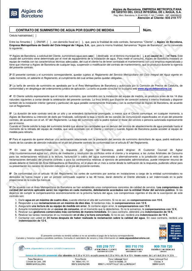 Formulario Cambio Titular Web Ab La Gestió Responsable